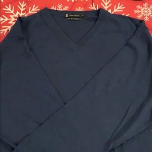 Other - V-neck sweater blue XXL